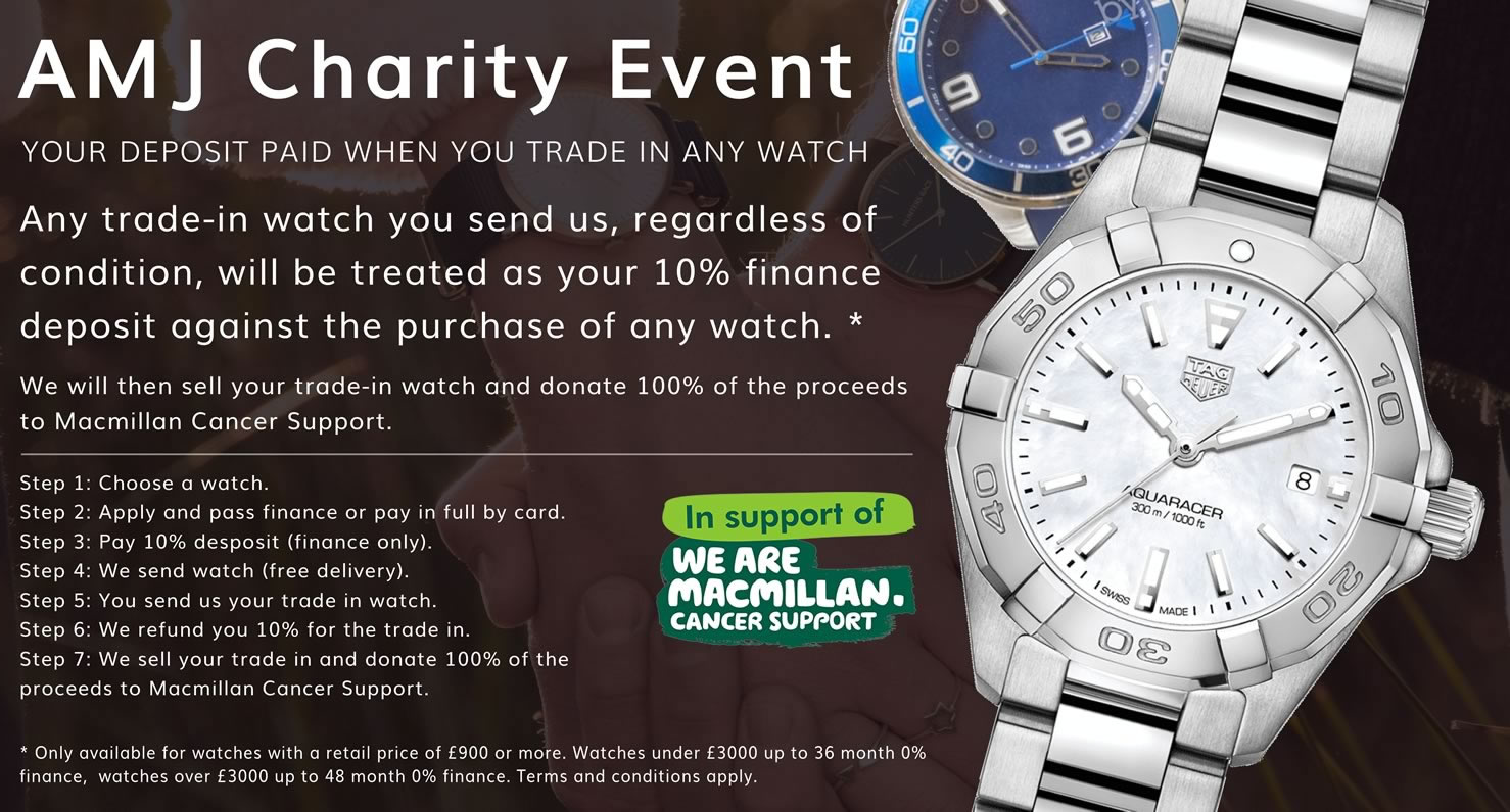 AMJ Watches Charity Event